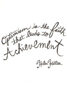 Optimism and achievement