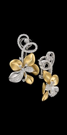 Master Exclusive Jewellery - Collection - Diamond flowers diamonds and White gold