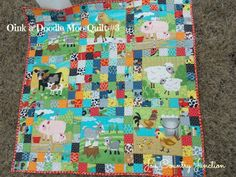 @ModaFabrics has a new quilt bursting with color and fun farm animals. You can make most of this nine patch inspired quilt with your scrappy quilt leftovers and cute animal blocks. Babies and little kids alike won't be able to get enough of this energetic scrap quilt pattern.