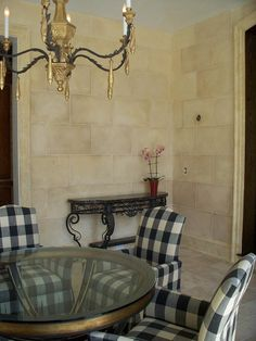 faux stone walls made in plaster in greenwich, ct