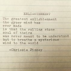 Enlightenment. Gypsy Chronicles no. 46