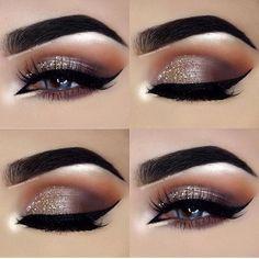 pretty glitter eye makeup