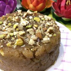Sooji Besan Halwa (Rava Gramflour Pudding) - Dessert Recipe