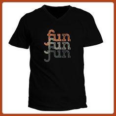 Idakoos - fun repeat retro - Adjectives - V-Neck T-Shirt - Retro shirts (*Partner-Link)