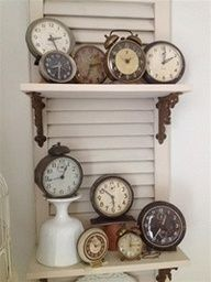 great display of vintage clocks - Google Search