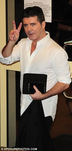 He's the boss: Simon Cowell was looking totally relaxed since all four of his Over 25 acts Fleur East, Ben Haenow, Jay James and Stevi Ritchie are still in with a chance of winning