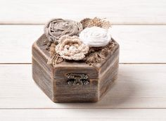 Wedding Ring Box Ring Pillow Ring Bearer Ring Holder Rustic Wedding Wooden  Engagement Proposal Ring Box Burlap Lace Unique on Etsy, $29.17