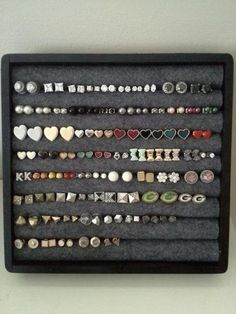 7 Clever DIY Earring Holder Ideas to Organize Your Earrings – The Organized Mom - Mobel Diy Earring Holder, Diy Jewelry Holder, Earring Box, Earring Display, Stud Earring Organizer, Necklace Holder, Jewelry Box, Diy Earring Storage, Hanging Jewelry