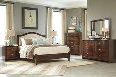 Medium Brown Corraya Queen Panel Bed View 5