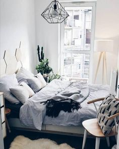 grey bedroom + minimal design / #interior #design #architecture