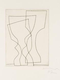 Ben Nicholson OM 'three goblets', 1967 © Angela Verren Taunt 2014. All rights reserved, DACS