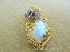 wire wrapping - Atelier Saphirの ワイヤーアートジュエリー ・ 各レッスンのご紹介