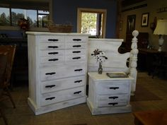 Antiqued Bedroom, customized here at our shop
