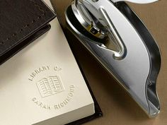 For book lovers who worry that their books go missing when they lend them to others, the Personal Library Book Embosser lets them personalized each book with a custom embossing that includes their name or initials.