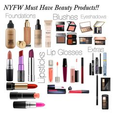 """NYFW Must Have Beauty Products!!!!!!"" by minadinamike on Polyvore featuring beauty, MAC Cosmetics, Urban Decay, Clinique, Lancôme, Yves Saint Laurent, Sephora Collection, Maybelline, Burberry and e.l.f."