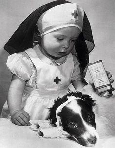 little nurse with her patient