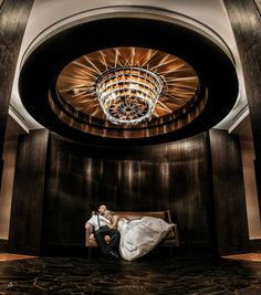 Matt Shumate Photography at the beautiful Suncadia Resort. Extra special thanks to the bride and groom who stepped out of their wedding reception for a minute to lay on the couch under a chandelier in the hallway so this amazing photograph could exist.