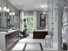 love the cabinets in this candice olsen designed bathroom