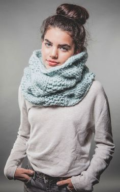 Urban Snood KIt in Aqua   WE ARE KNITTERS