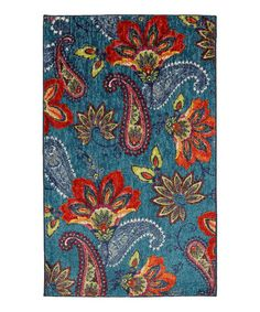 Take a look at this Blue Whinston Rug by Mohawk Home on #zulily today!