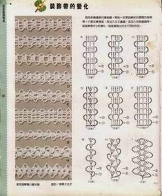 Crochet and arts: Crochet Tutorial Bobble Crochet, Crochet Cord, Crochet Motif, Irish Crochet, Crochet Flowers, Crochet Lace, Crochet Borders, Crochet Diagram, Crochet Stitches Patterns