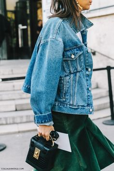 Denim + emerald.