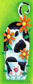 Gatto a fiori