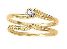 Yellow gold solitaire diamond wedding set.  Overnight 50078-E #seneedhamjewelers #loganutah