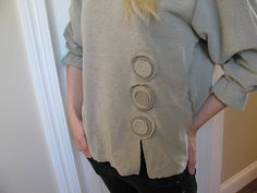 Taupe Women's SweatshirtCottage Rose by StitchesbyJulia on Etsy, $42.00