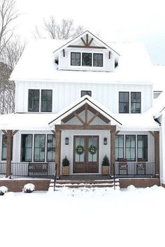 26 Amazing Modern Farmhouse Plans Design Ideas And Remodel. If you are looking for Modern Farmhouse Plans Design Ideas And Remodel, You come to the right place. Below are the Modern Farmhouse Plans D. Modern Farmhouse Design, Modern Farmhouse Exterior, Farmhouse Homes, Farmhouse Style, Rustic Exterior, Simple Farmhouse Plans, Simple House Exterior, Farmhouse Architecture, Simple House Plans