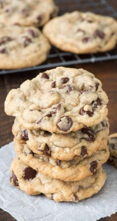 Chocolate Chip Cookies | Etsy Best Chocolate Chip Cookies Recipe, Chewy Sugar Cookies, Chocolate Recipes, Cookies Et Biscuits, Chocolate Chocolate, Chocolate Chip Cookie Recipe With Margarine, Cake Cookies, Chcolate Chip Cookies, Fluffy Chocolate Chip Cookies
