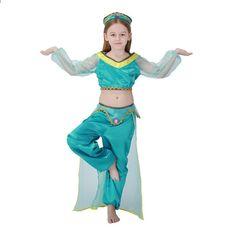 Kid Girl Aladdin Lamp Prințesă Jasmine Costum Halloween Partidul Belly  Copil Cosplay Outit Cartea săptămânii Ziua Copilului Dress Fancy 4a23e9fda60e6