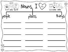 Today In First Grade: Hello Nouns! Freebie (Students could