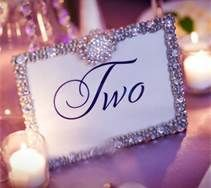 sparkly wedding table numbers ideas