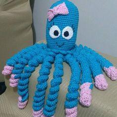 Crochet Octopus: Models That Soothe Premature Babies Crochet Fish, Crochet Octopus, Tunisian Crochet, Cute Crochet, Crochet Animals, Crochet For Kids, Crochet Toys, Crochet Baby, Octopus Colors