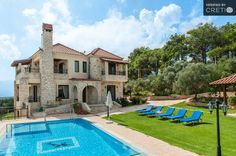 Traditional stone made mansion with pool and elevato, Polemarchi | Cretico