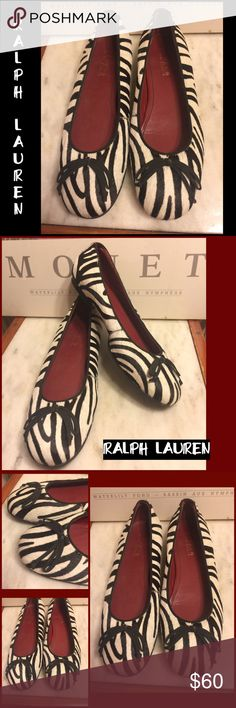 """SZ 7 -RALPH LAUREN BLACK/WHITE ZEBRA LEATHER FLATS EXCELLENT CONDITION! NO WEAR TO NOTE. RETAIL $169. LAUREN RALPH LAUREN BLACK & WHITE ZEBRA PRINT FLATS. LEATHER UPPER. LOOKS LIKE """" HORSE HAIR"""". SZ 7 B-MEDIUM WIDTH. PLEASE DO NOT HESITATE TO ASK ANY QUESTIONS! #laurenralphlauren #zebraprint #leather #horsehairlook #flats Lauren Ralph Lauren Shoes Flats & Loafers"""