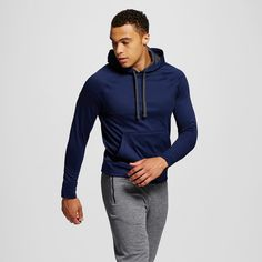 Men's Tech Fleece Pullover Hoodie Dark Blue 2XL - C9 Champion, Size: Xxl, Dark Night Blue