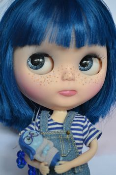 Ooak Custom Factory/fake Blythe Doll Blues by BlytheByBridie