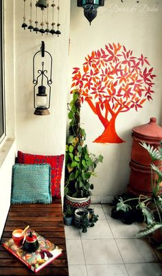 Balcony garden ideas for decorate your house best of indian balcony decor decor in 2018 apartment balcony decorating - Savvy Ways About Things Can Teach Us Apartment Balcony Decorating, Apartment Balconies, Cozy Apartment, Apartment Cleaning, Apartment Plants, Home Design, Design Blogs, Design Ideas, Balcony Design