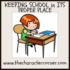 Keeping school in its proper place
