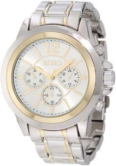 XOXO Women's XO5586 Two-Tone Bracelet Watch - http://www.specialdaysgift.com/xoxo-womens-xo5586-two-tone-bracelet-watch/