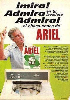 Henry Altuve en publicidad de Admiral y Ariel. Caracas Venezuela