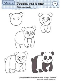 49 trendy ideas for drawing for kids panda Drawing Lessons, Drawing Techniques, Art Lessons, Drawing Tips, Drawing Sketches, Sketching, Doodle Drawings, Animal Drawings, Easy Drawings