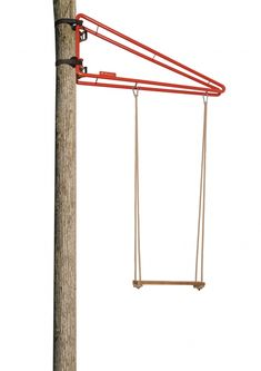 Portable Outdoor Swing. Attaches to any tree or pole for fun anywhere. This would be awesome to take camping with the kids.
