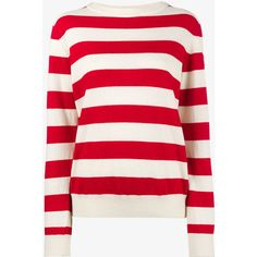 Holiday Sailor Long Sleeve Stripe Sweater (€215) ❤ liked on Polyvore featuring tops, sweaters, holiday tops, red striped top, red sweater, evening tops and stripe sweaters