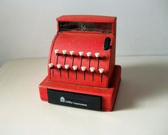 Vintage toy metal cash register Little Learners by LookBackVintage, $25.00