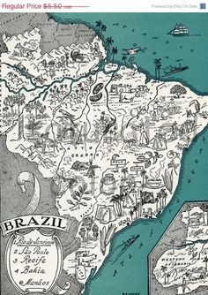 ON+SALE+Brazil+Map++High+Res+DIGITAL+Image+of+a+by+SaturatedColor,+$4.40