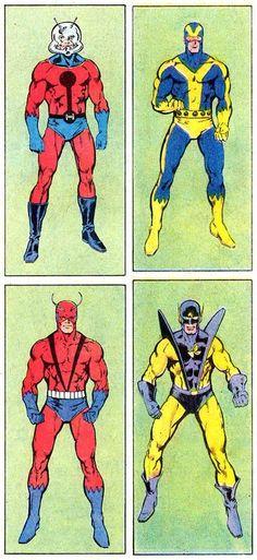 Ant-Man : Giant-man : Goliath : Yellow Jacket