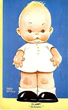 Mabel Lucie Attwell Boy 'Diddums' 1934 Postcard (Image1)
